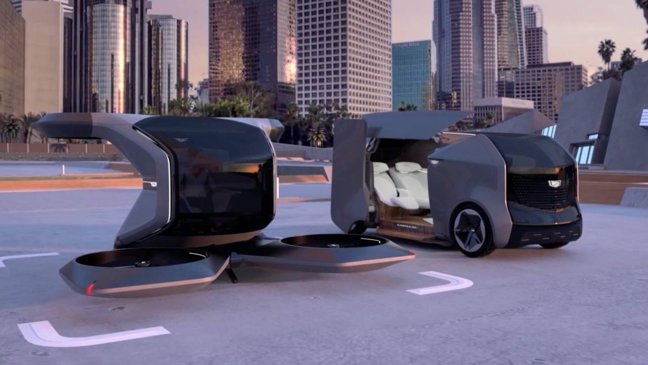 Cadillac flying car and autonomous pod concepts hint at electric roadmap