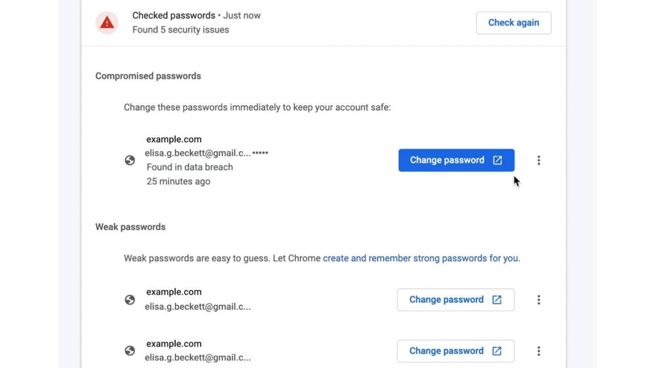 Chrome 88 brings improved password security and management