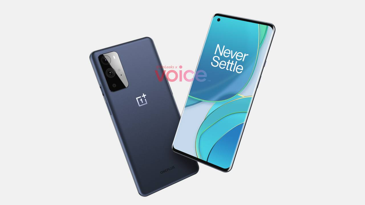 OnePlus 9 leak shows two phones, flat and curved