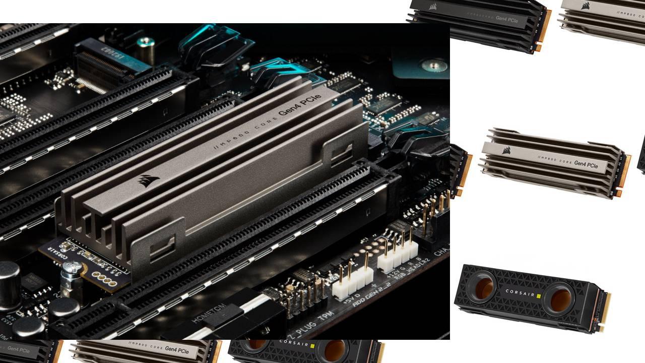 Corsair MP600 SSDs make a big deal of industrial design aesthetics