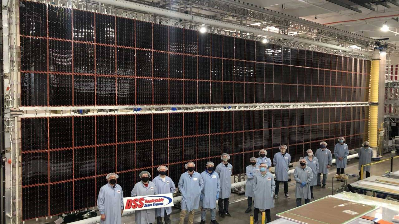 NASA shows off new solar panels for the ISS
