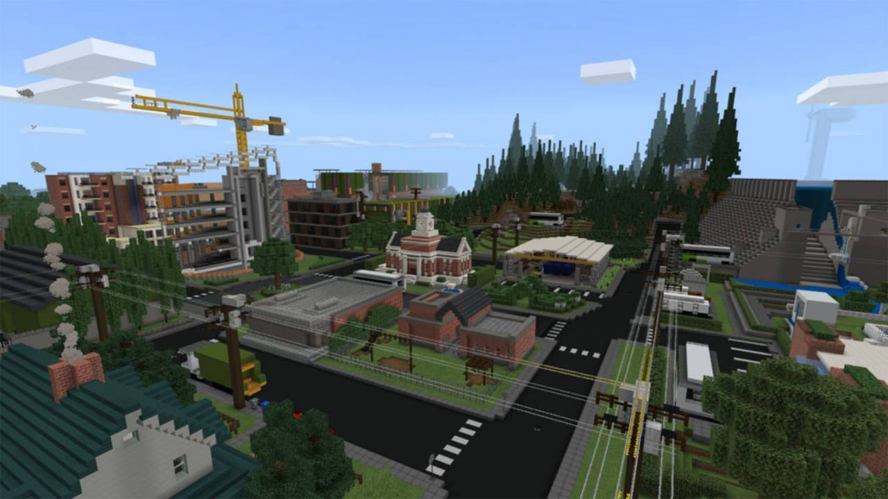 Microsoft's latest sustainability report comes with a free Minecraft map