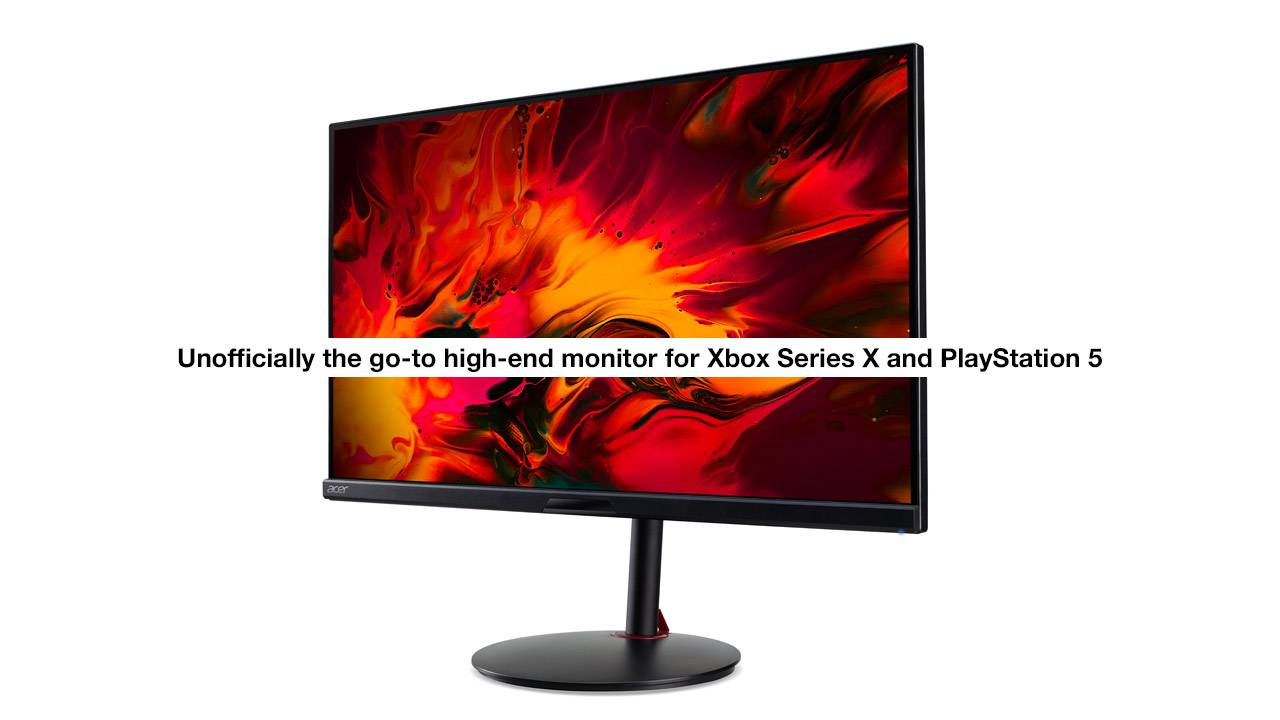 Acer Nitro XV282K KV 4K UHD Monitor made to support Xbox Series X and PS5