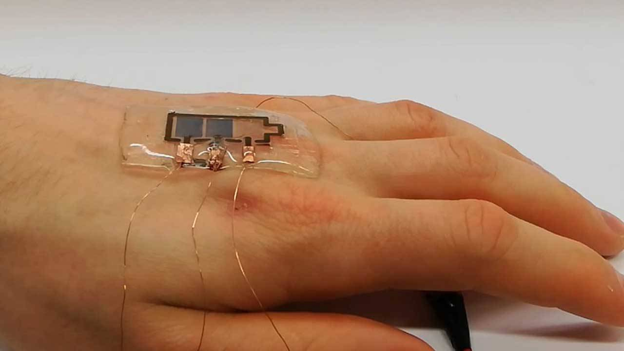 Researchers create biodegradable flexible displays for skin