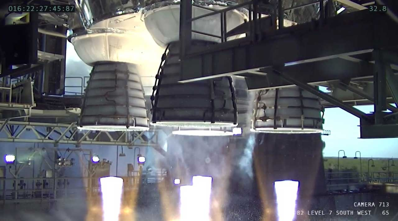 NASA's SLS core stage hot fire test didn't go as planned