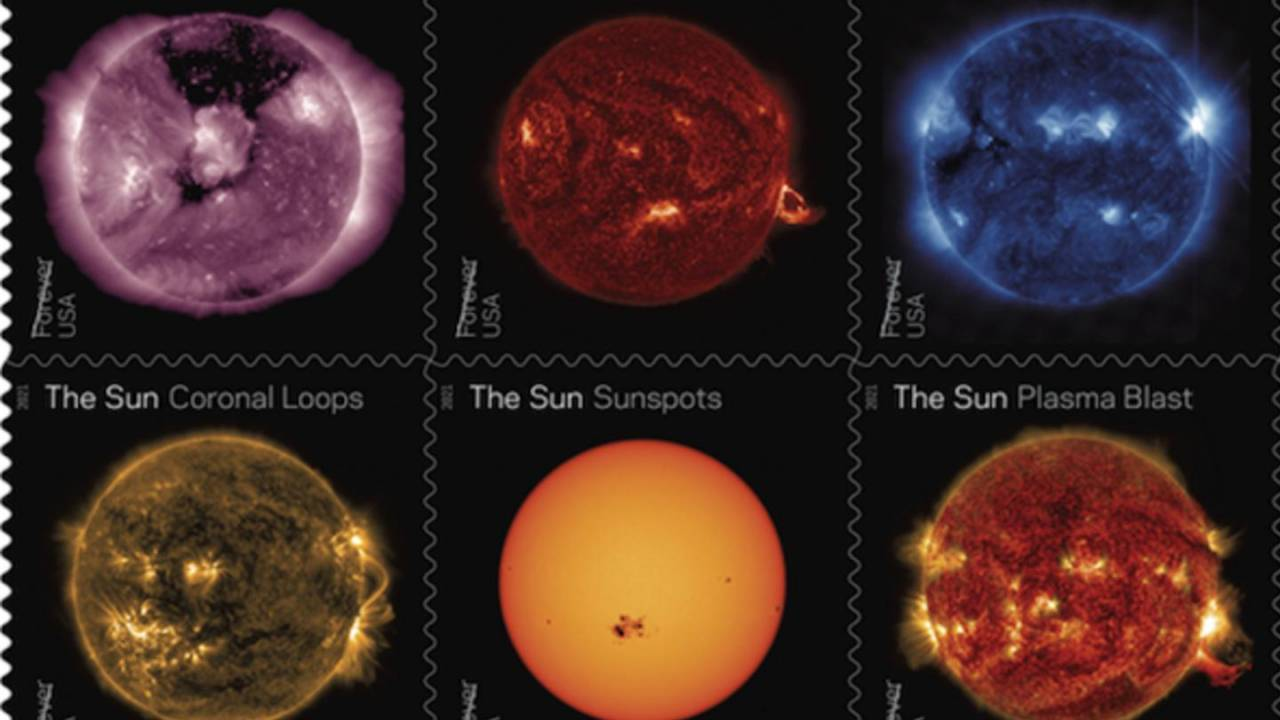 2021 USPS Forever Stamps will feature stunning NASA Sun images