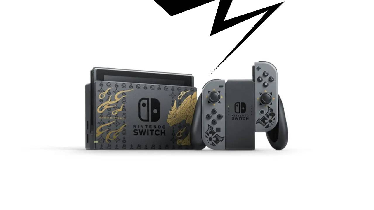 Another Monster Hunter Nintendo Switch – this one's tricked out in black, gray, and gold