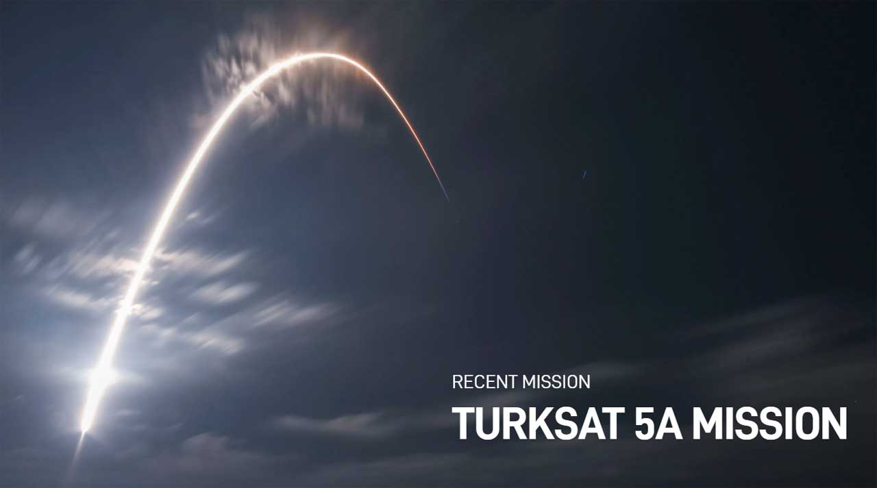 SpaceX's first launch in 2021 put a Turkish satellite into orbit