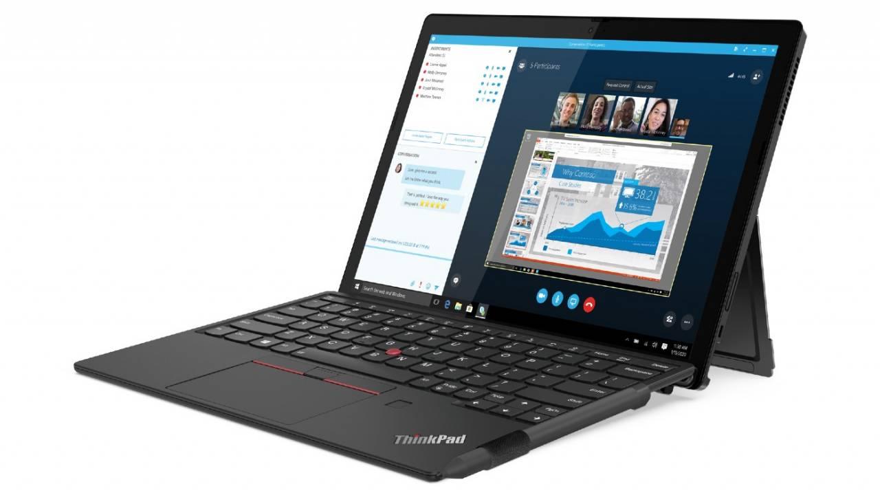 Lenovo ThinkPad X12 Detachable tablet transforms into a laptop