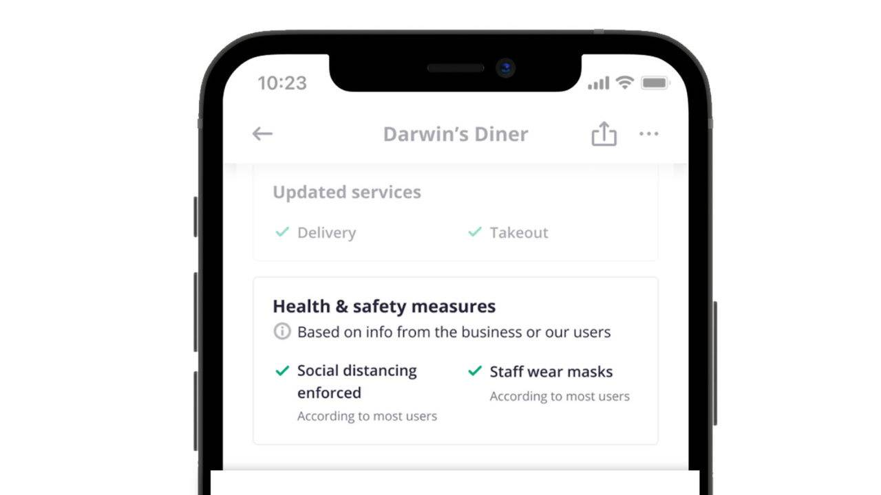 Yelp adds COVID-19 checklist to each business for review
