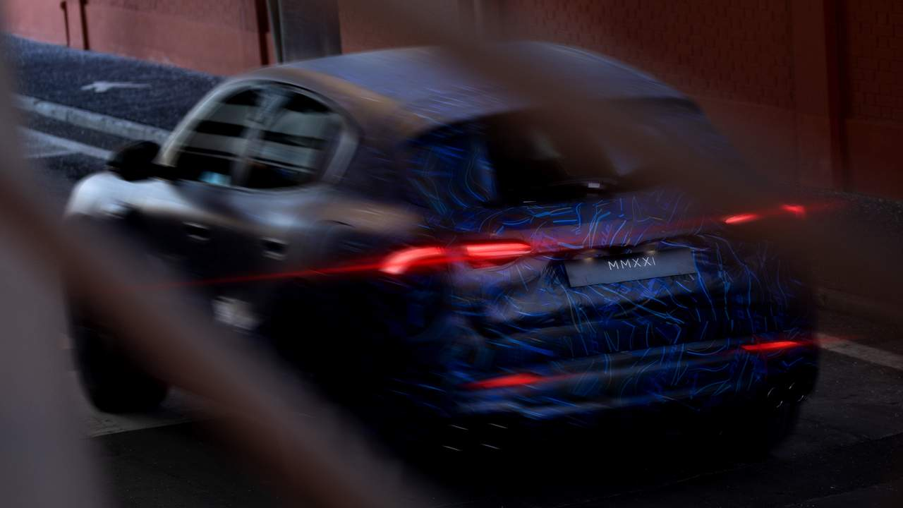 Maserati Grecale SUV spied outside of Modena factory