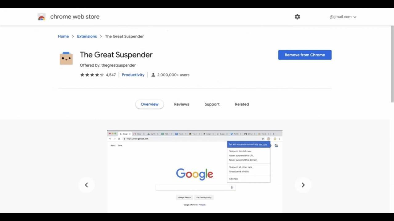 The Great Suspender Chrome extension removed for being malware, tabs lost