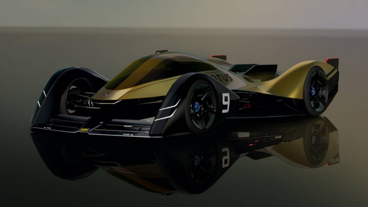 With a morphing body and all-EV power the Lotus E-R9 is a racer piloted like a jet