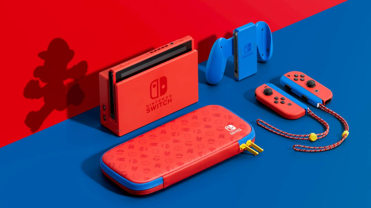 The special Nintendo Switch Mario Red & Blue Edition is finally on sale