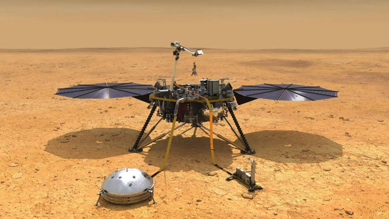 NASA's InSight rover conserves power as winter dust covers solar panels
