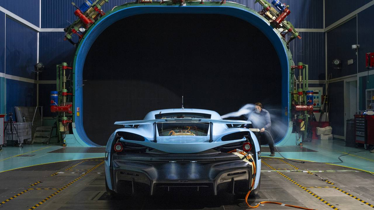 Rimac C_Two aerodynamic testing confirms production is near for Croatia's next supercar