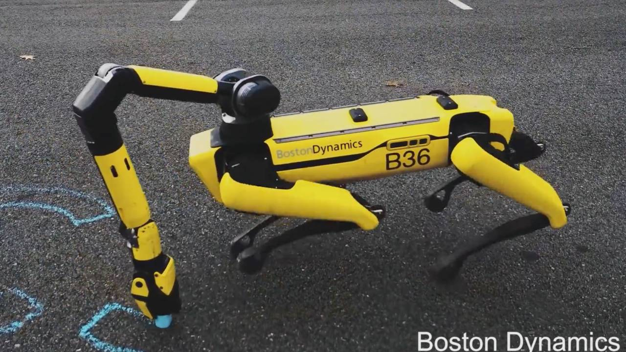 Boston Dynamics' Spot robo-dog can now pick things up and charge itself