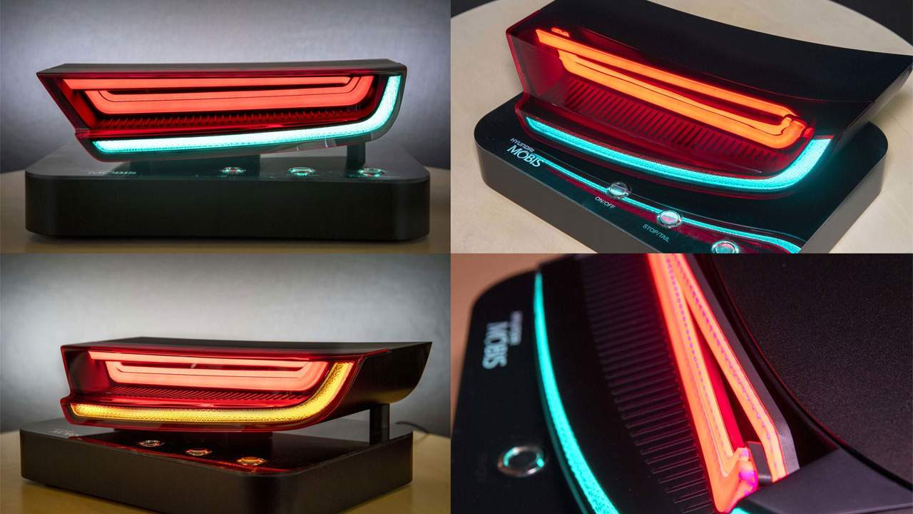 Hyundai Mobis HLED taillights use a single LED for two functions