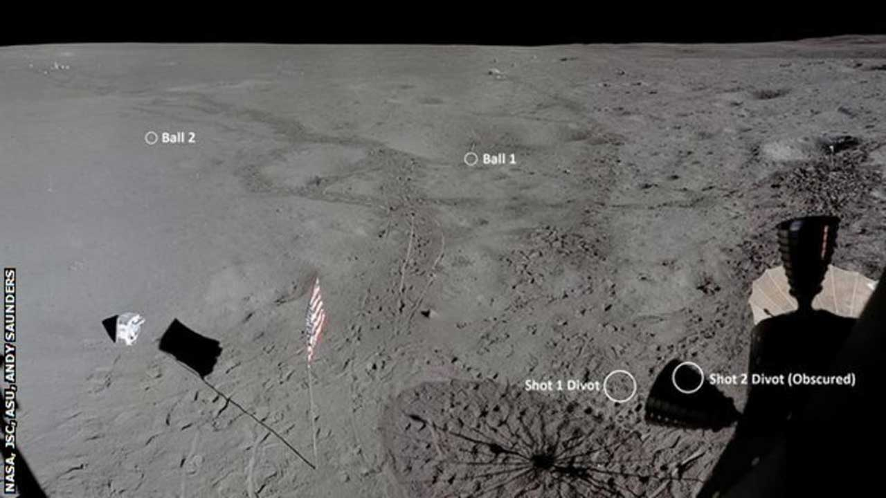 Apollo 14 50th anniversary images find Alan Shepard's golf balls
