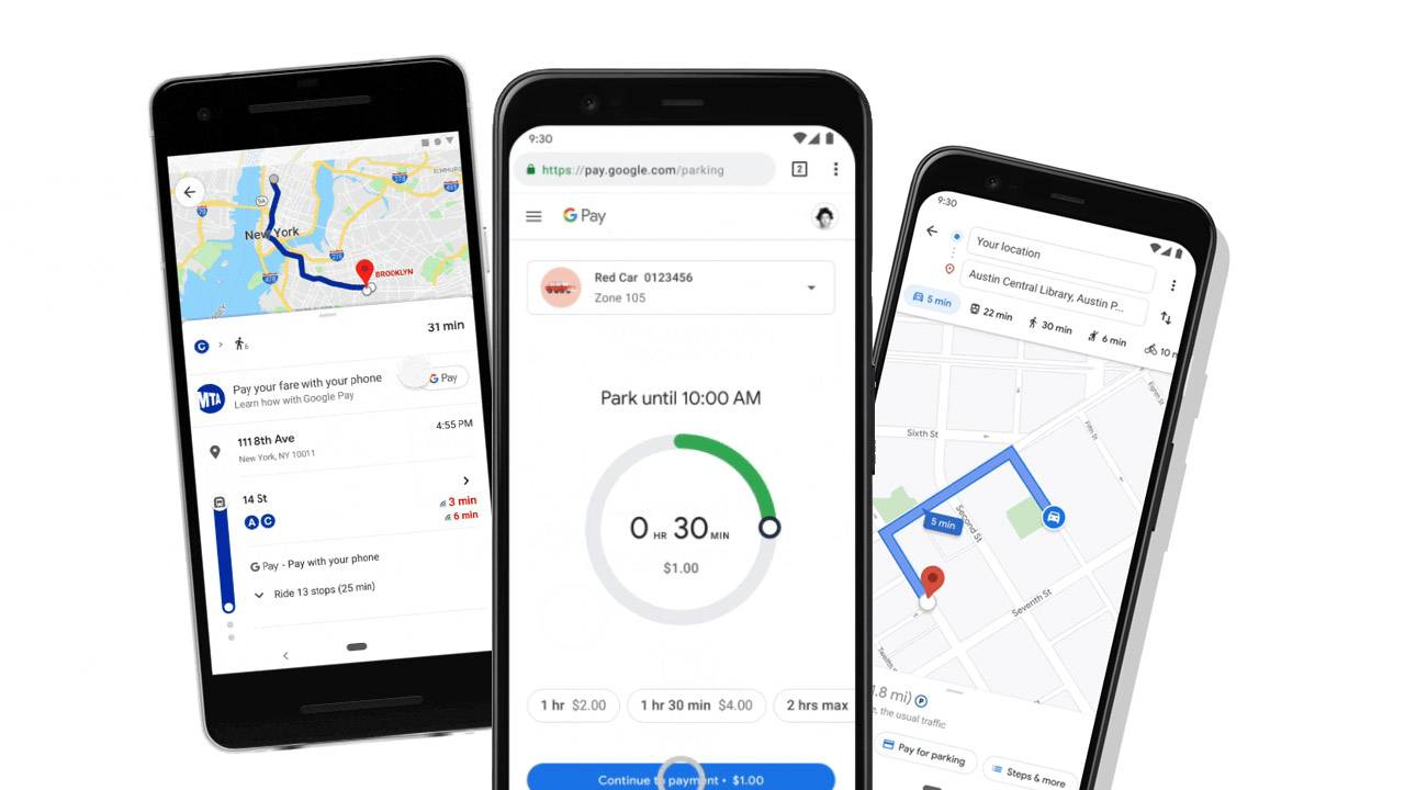 Google Pay adds digital wallet parking fee and transit options