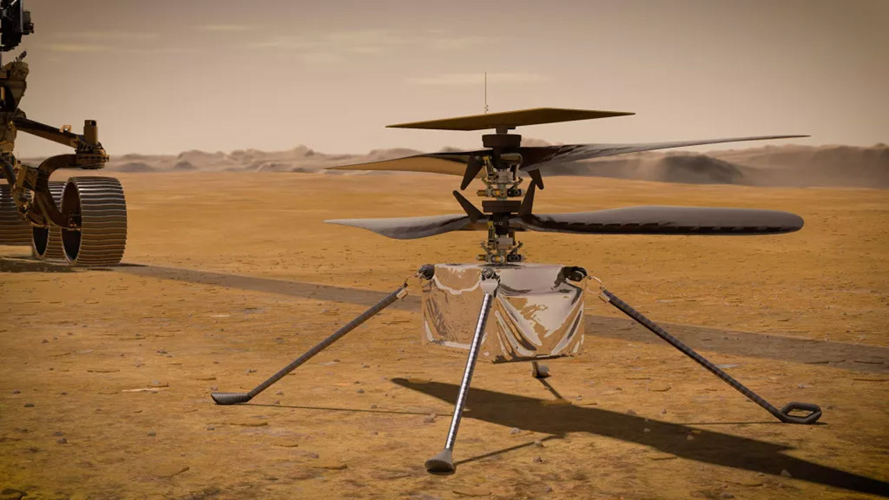 Ingenuity helicopter checks in with NASA from the surface of Mars