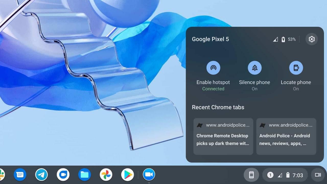 Chrome OS Phone Hub will help keep your Android phone away