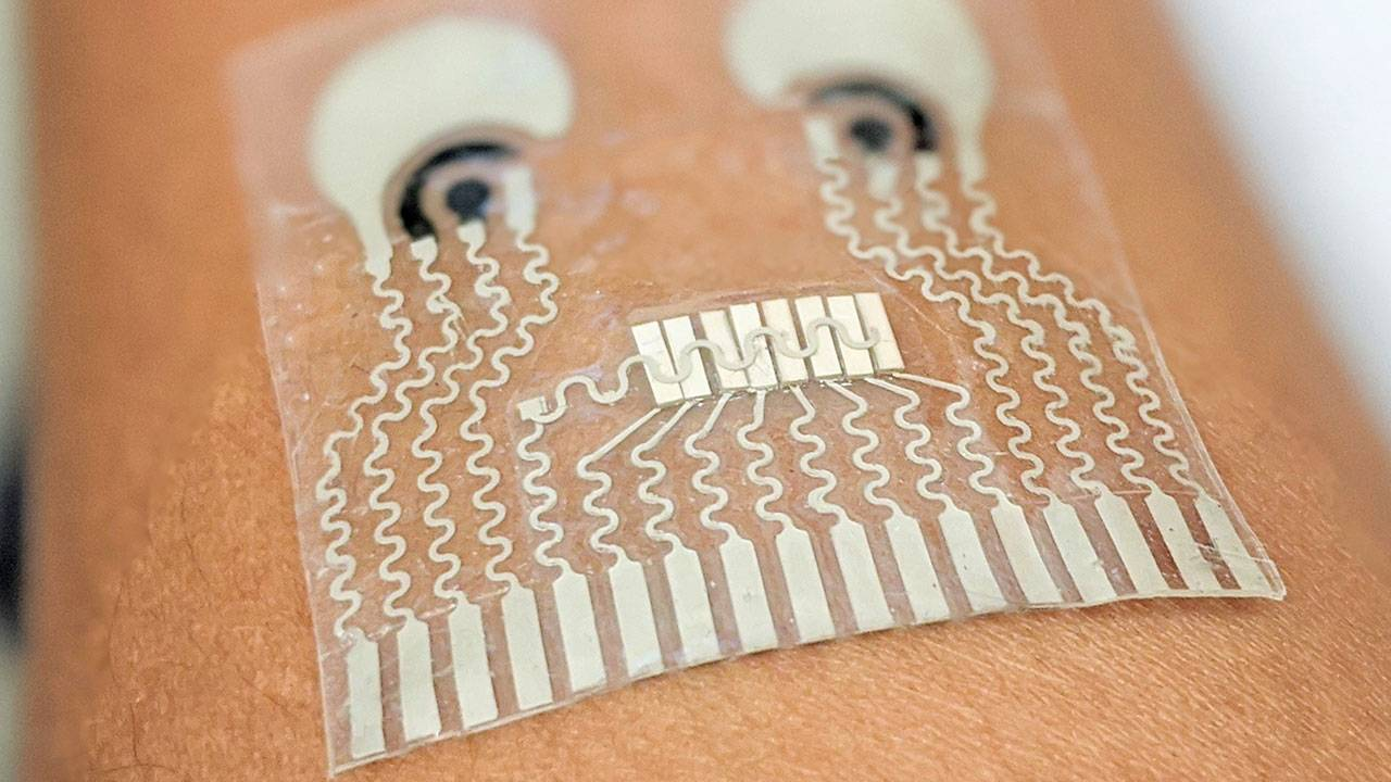 """Skin patch """"digital tattoo"""" can continuously track blood pressure and more"""