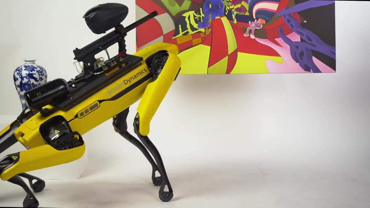 Spot's Rampage lets anyone control a paintball gun-toting robot for art