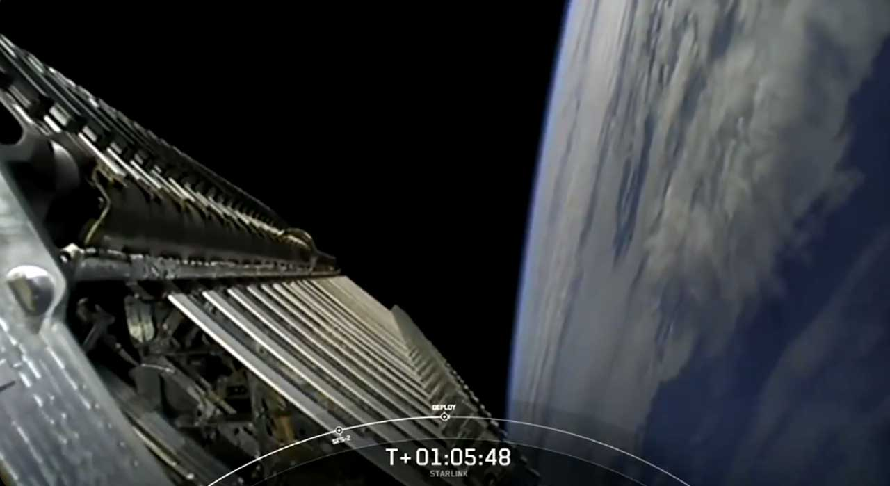 SpaceX successfully put 60 more Starlink satellites into orbit