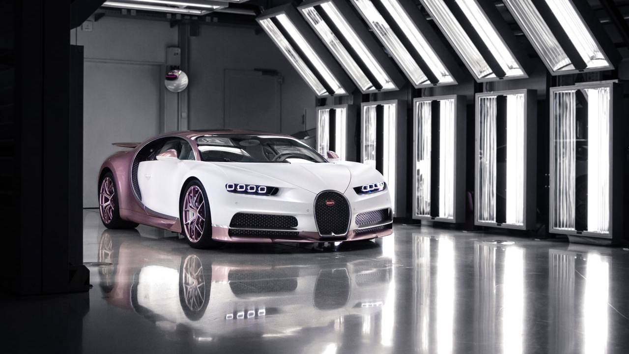 This pink and white Bugatti Chiron is the ultimate Valentine gift