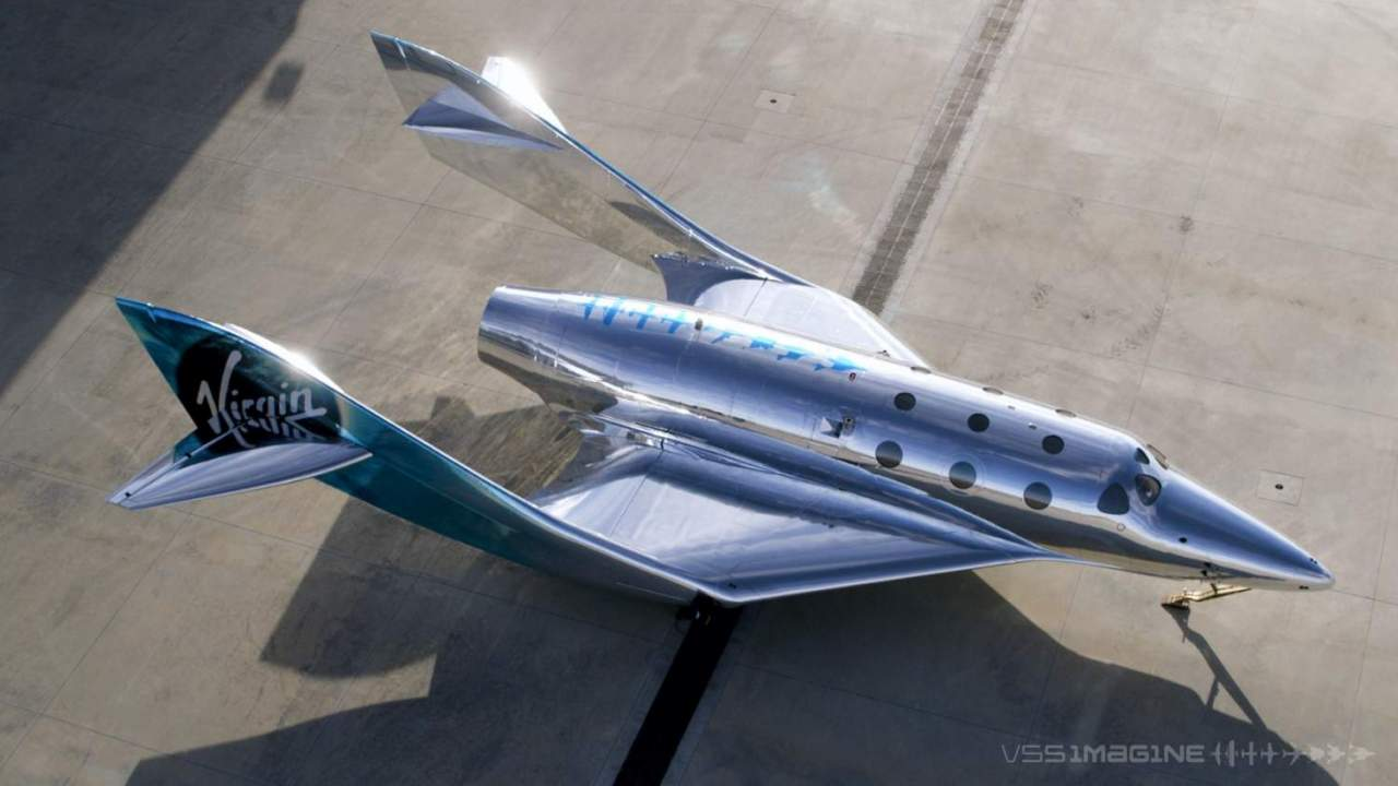Virgin Galactic's gorgeous new spacecraft is a retro sci-fi dream