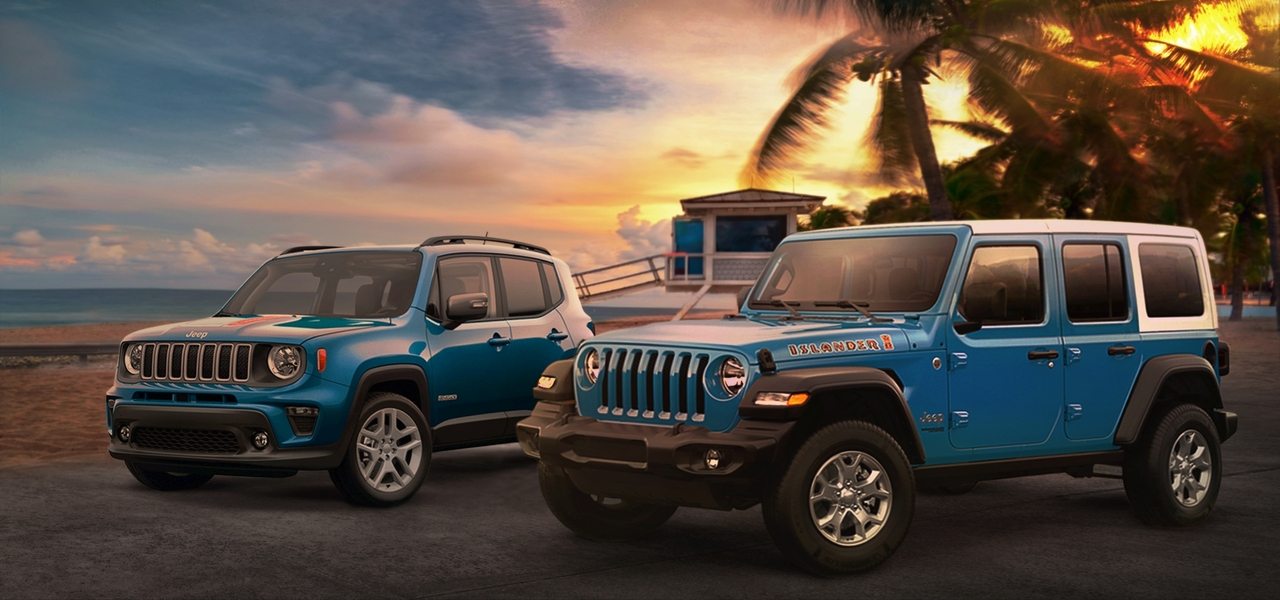 2021 Jeep Wrangler Islander and Renegade Islander debuts with summery vibes