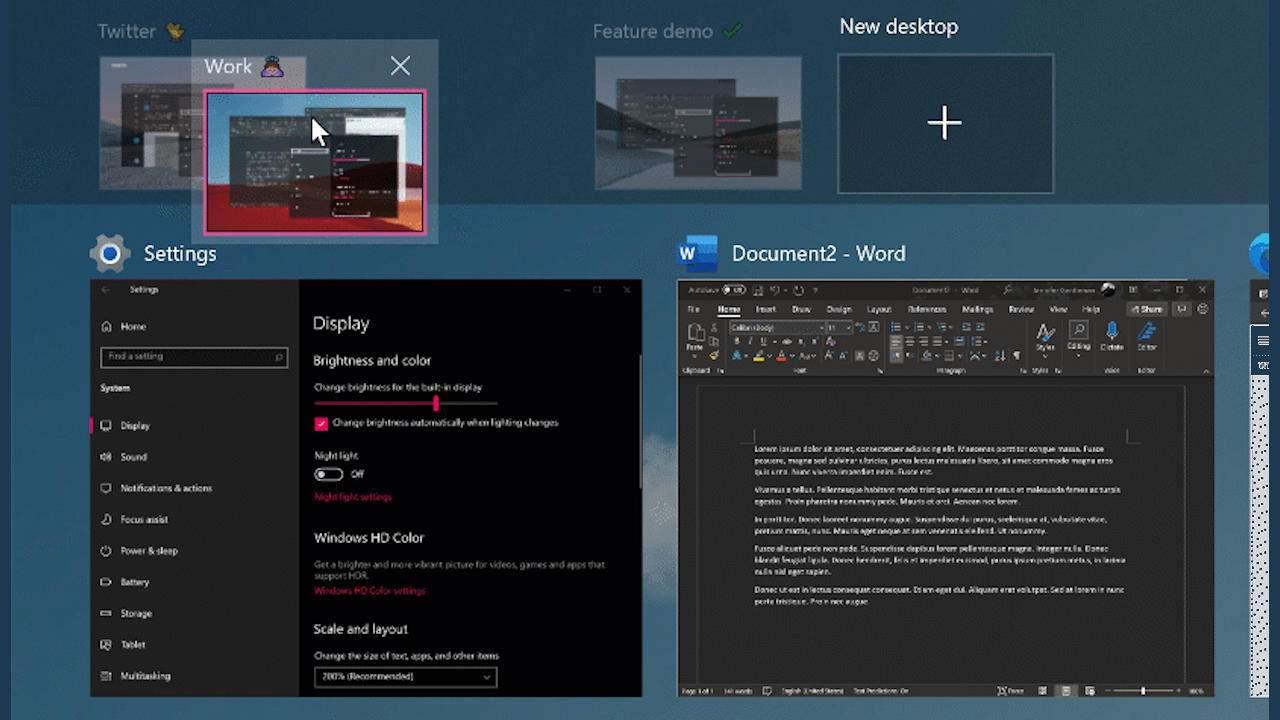 Windows 10 Auto HDR, Virtual Desktop customization are coming