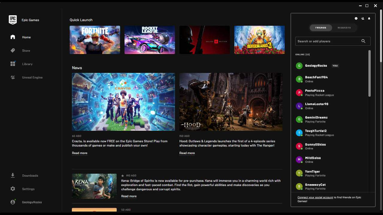 Epic Games Store gets more social with a party system