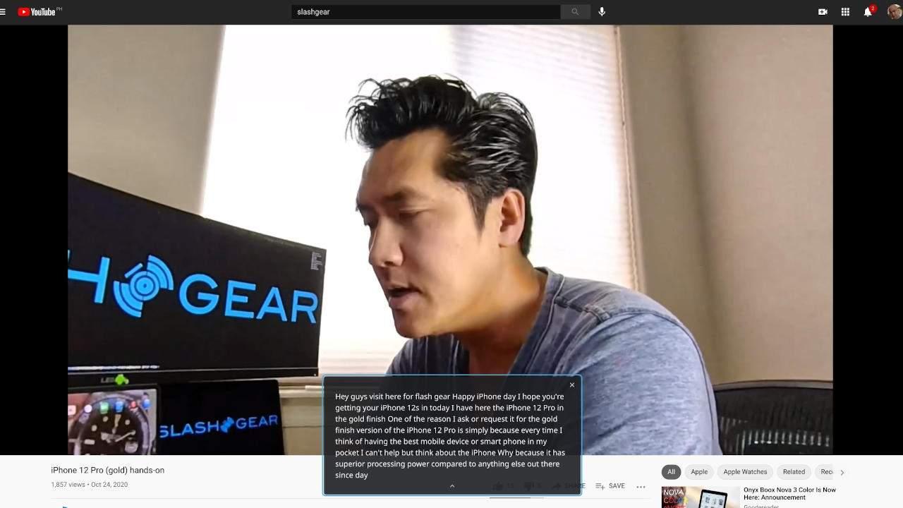 Google Chrome Live Caption now available on desktops