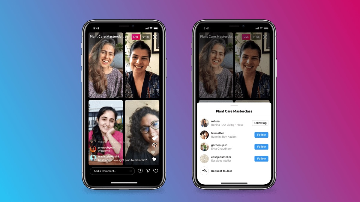 Instagram Live Rooms opens video streaming space for four