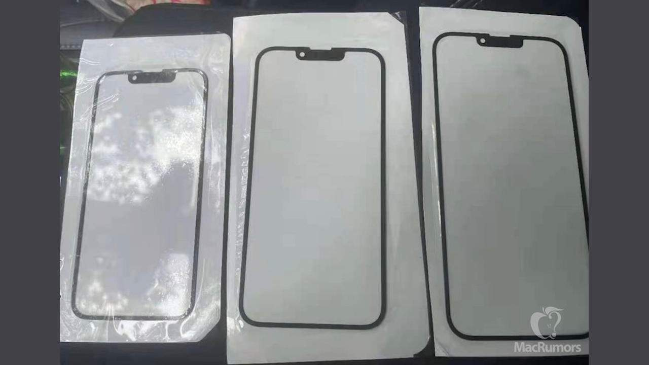 iPhone 13 glass panels suggest smaller notches again