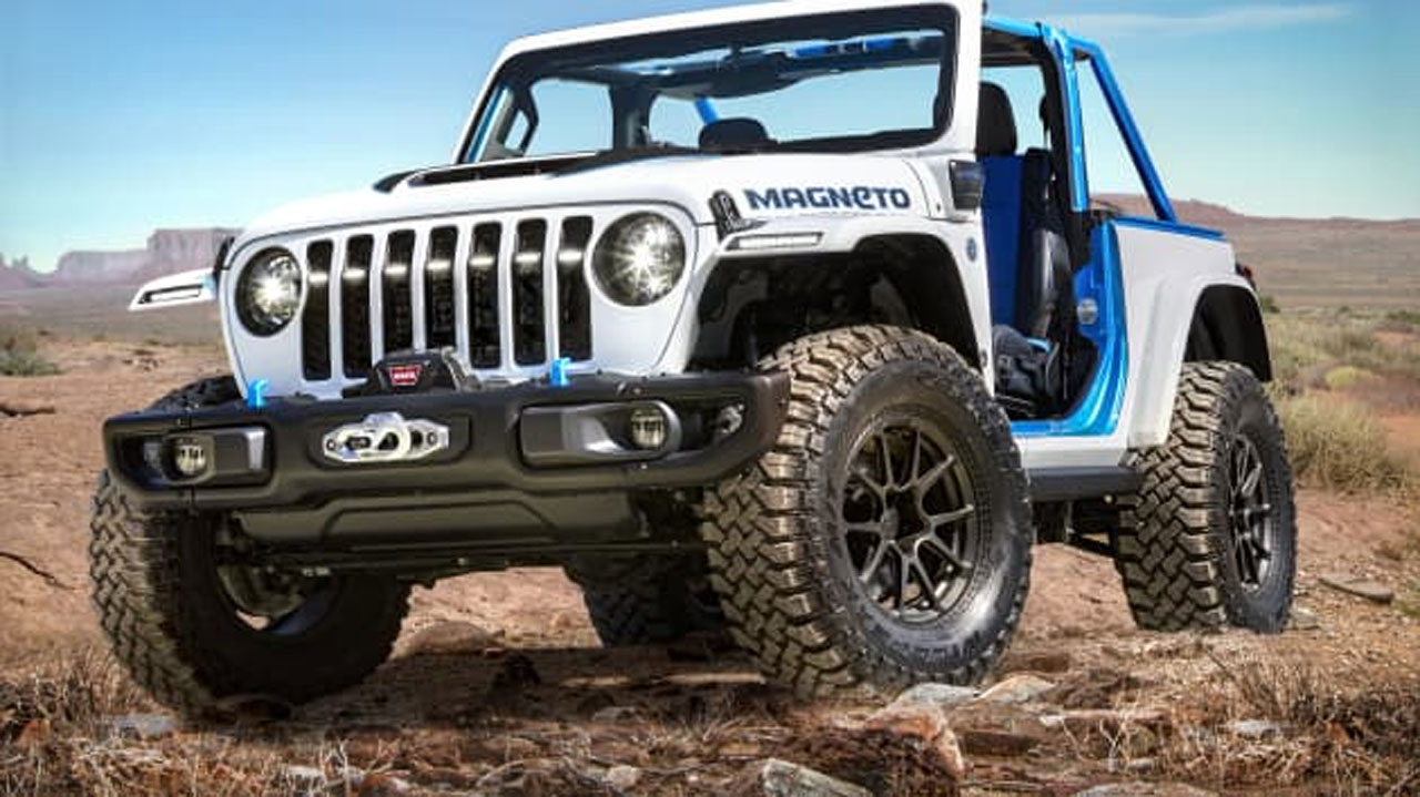 Jeep Wrangler Magneto concept is fully electric-powered