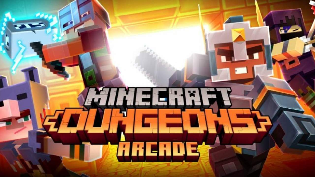 Minecraft Dungeons' cabinet arcade game includes physical cards