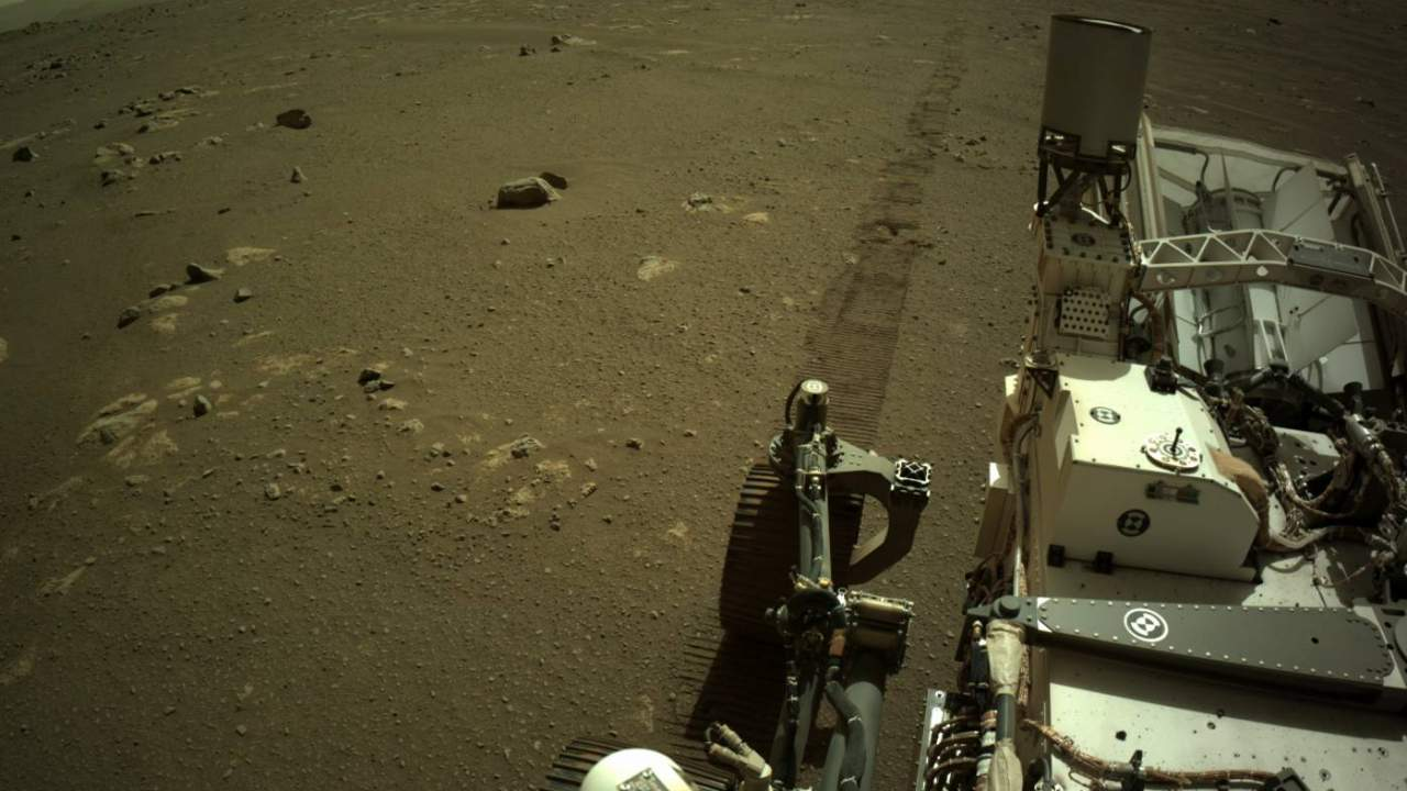NASA shares first audio clip of Perseverance rover rolling across Mars