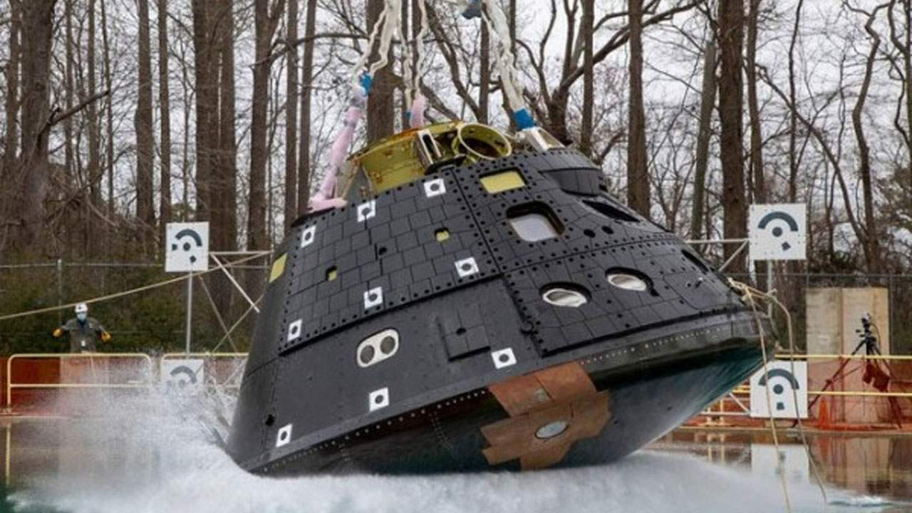 Artemis Orion spacecraft water drop test goes off without a hitch