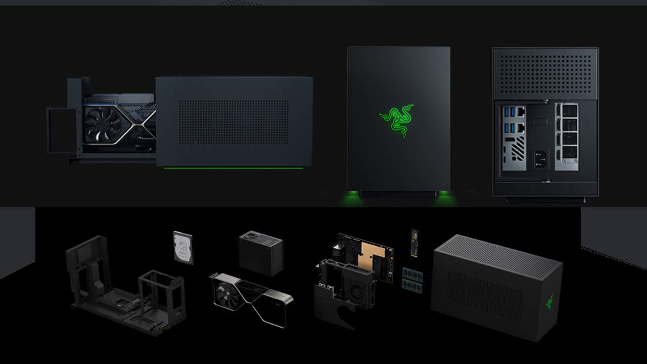 Razer Tomahawk released with RTX 3080 and tool-less sled system