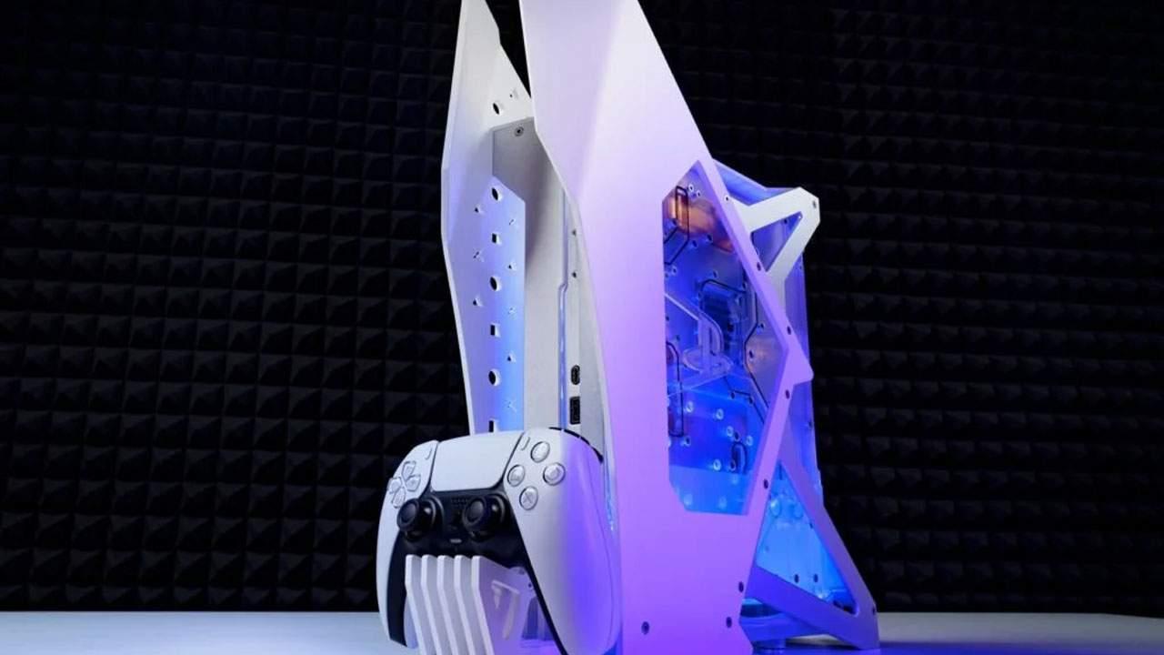 Modder creates a slick liquid-cooled PlayStation 5