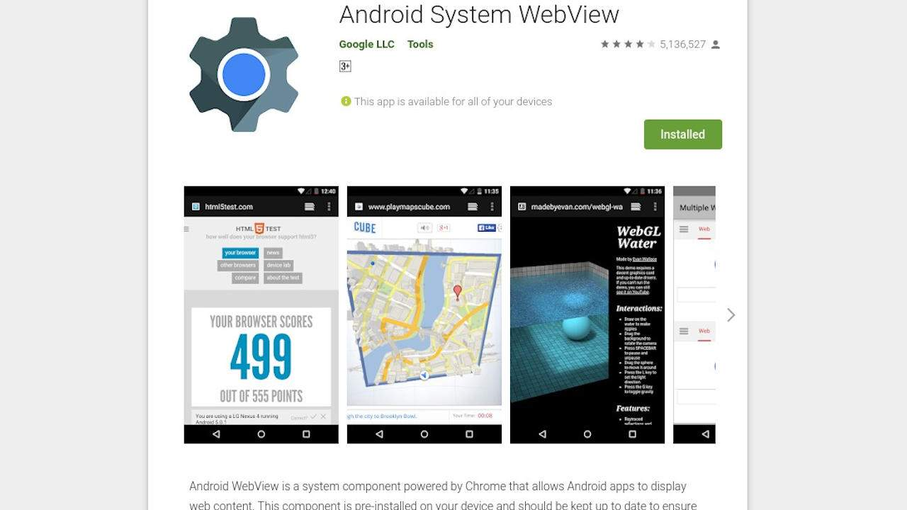 Android apps crashing blamed on WebView, here's the quick fix