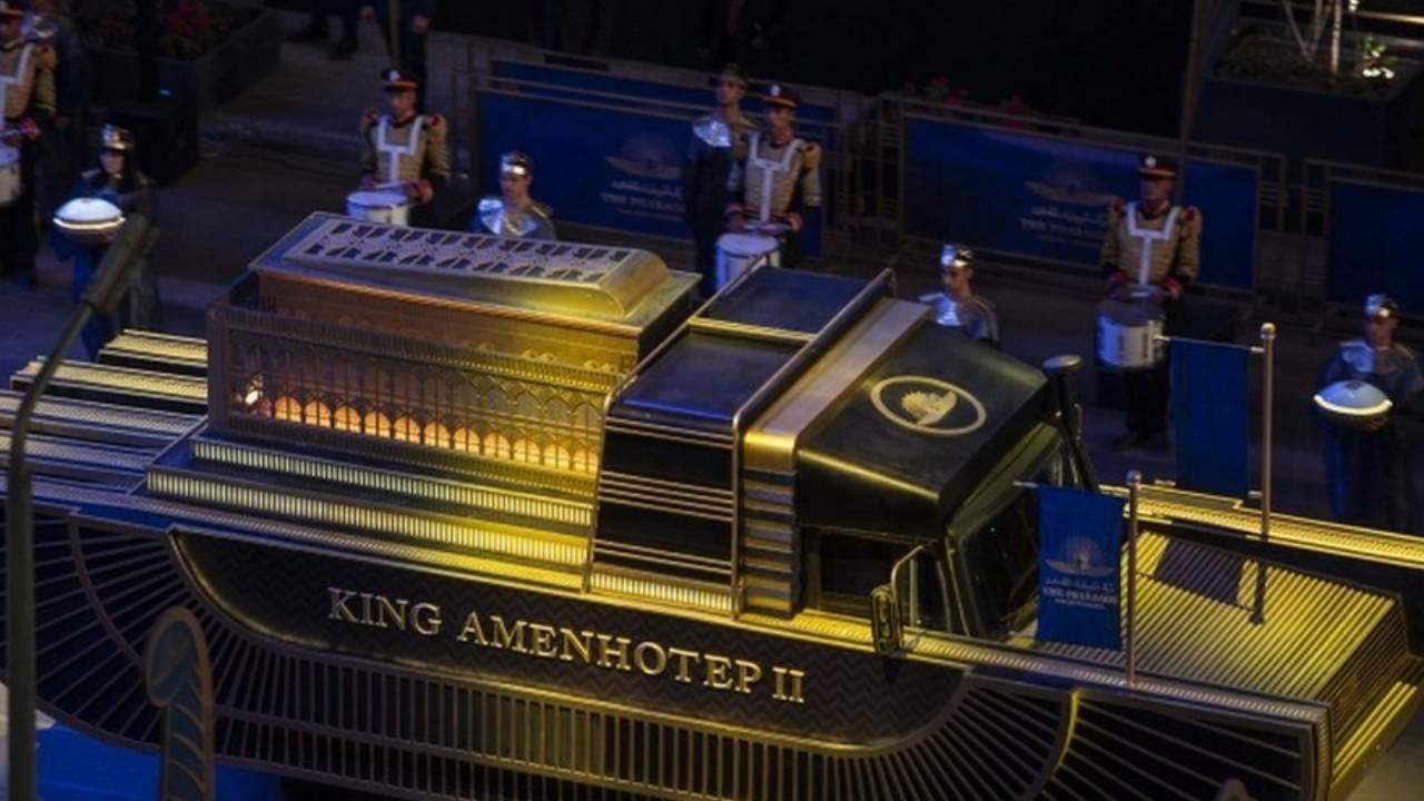 Mummies of pharaohs and queens make historic procession through Cairo