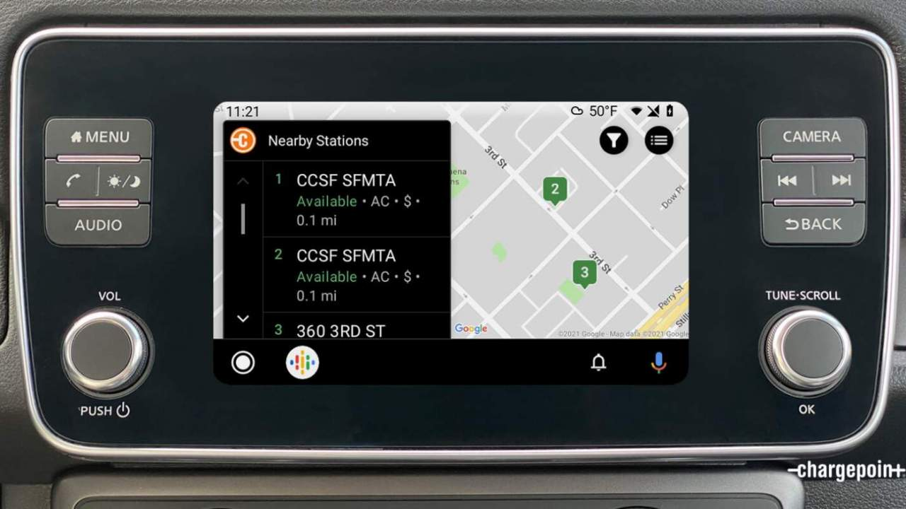 ChargePoint's EV charger app now works in Android Auto