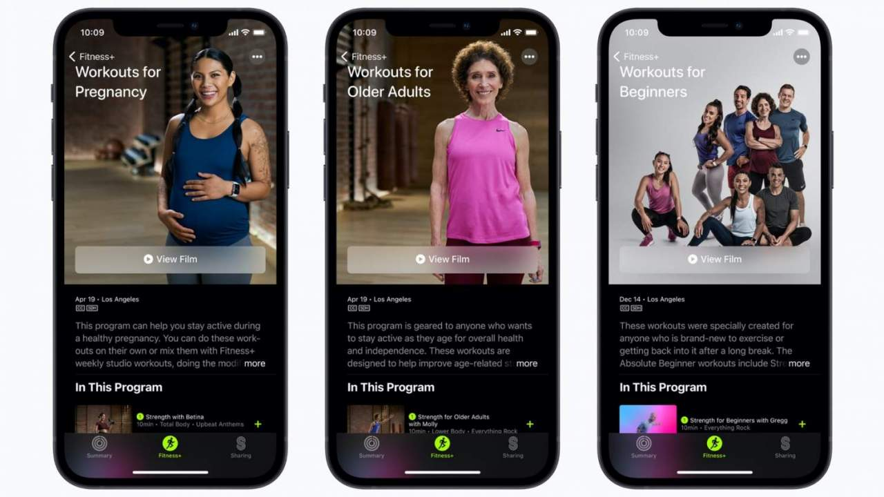 Apple Fitness+ adds workouts for beginners plus older and pregnant users