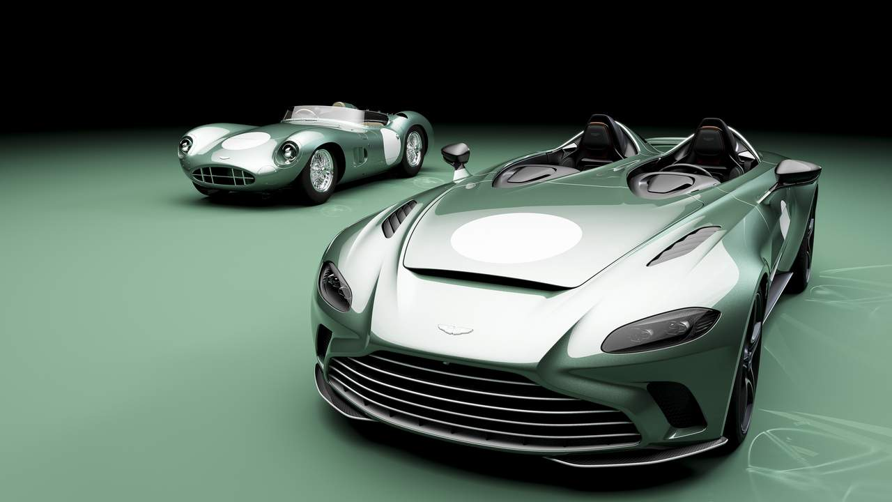 Aston Martin V12 Speedster with bespoke DBR1 livery is oozing with vintage appeal