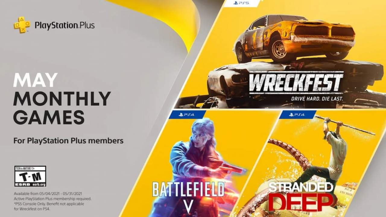 Battlefield V headlines PlayStation Plus games for May