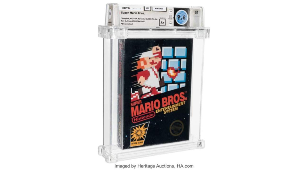 A sealed copy of Super Mario Bros just sold for a truly ridiculous amount